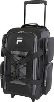 "Fila 22"" Lightweight Carry On Rolling Duffel Bag Black - ..."