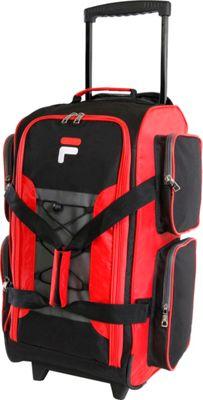 "Fila 22"" Lightweight Carry On Rolling Duffel Bag Red - Fi..."