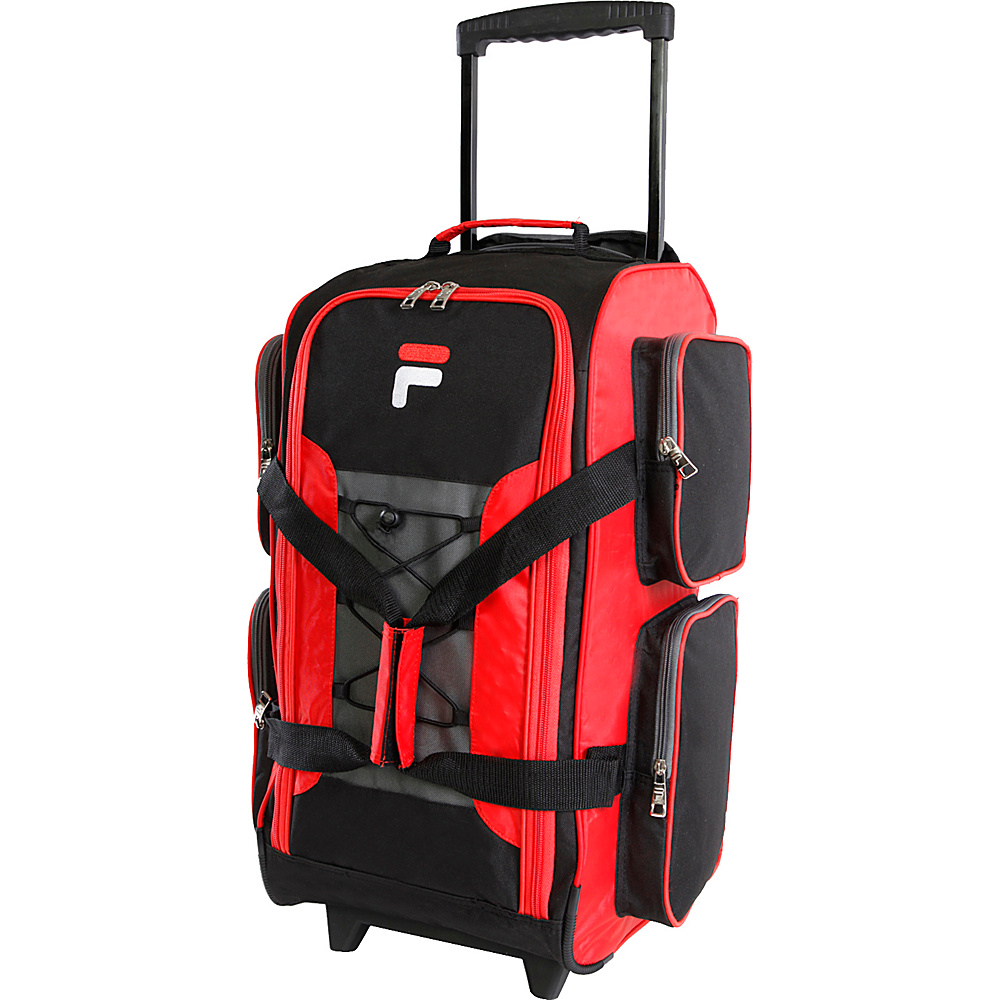 Fila 22 Lightweight Carry On Rolling Duffel Bag Red Fila Rolling Duffels