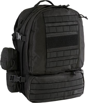 Highland Tactical Apollo Heavy Duty Tactical Backpack Black - Highland Tactical Day Hiking Backpacks