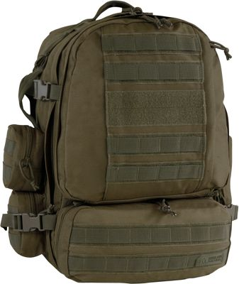 Highland Tactical Apollo Heavy Duty Tactical Backpack Dark Green - Highland Tactical Day Hiking Backpacks