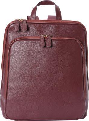 Bella Handbags Alice Backpack Handbag Burgundy - Bella Handbags Leather Handbags