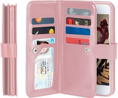 Gear Beast Dual-Folio Wallet iPhone 7 Case Pink - iPhone 7 - Gear Beast Electronic Cases