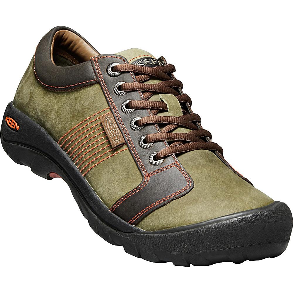 KEEN Mens Austin Slip On 15 - Army/Earth - KEEN Mens Footwear - Apparel & Footwear, Men's Footwear