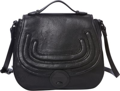 Foley + Corinna Stephi Saddle Bag Black - Foley + Corinna Designer Handbags
