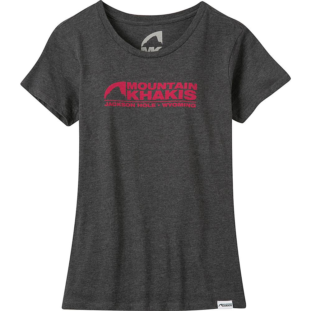 Mountain Khakis Logo T-Shirt L - Charcoal Heather - Mountain Khakis Mens Apparel - Apparel & Footwear, Men's Apparel
