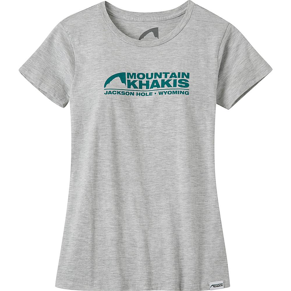 Mountain Khakis Logo T-Shirt L - Heather Grey - Mountain Khakis Mens Apparel - Apparel & Footwear, Men's Apparel
