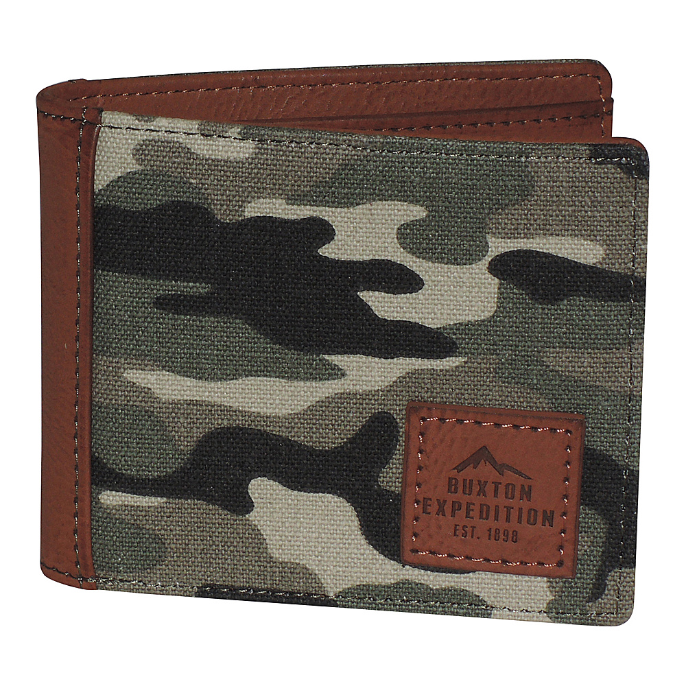 Buxton Expedition II Huntington Gear RFID Slimfold Camouflage - Buxton Mens Wallets - Work Bags & Briefcases, Men's Wallets