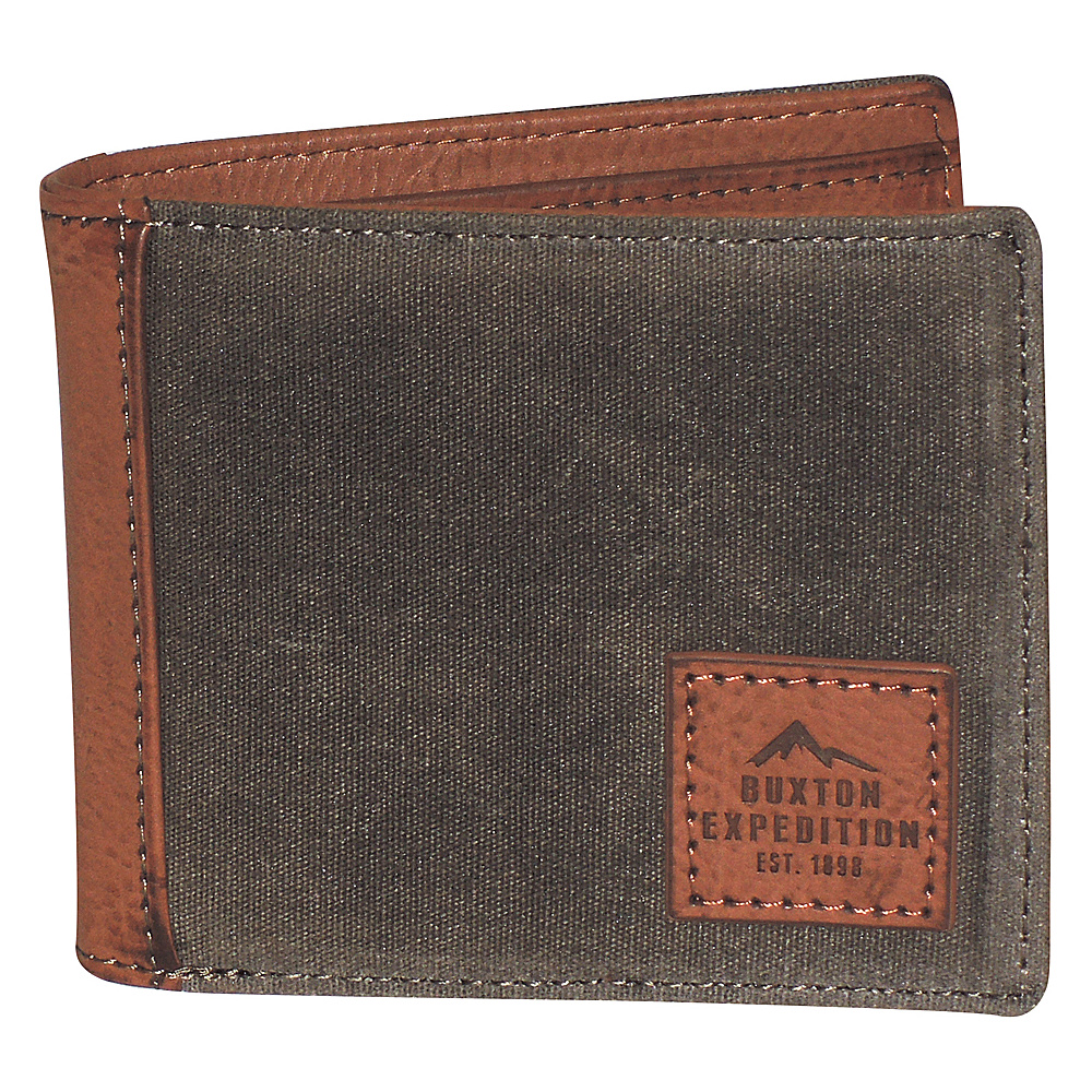 Buxton Expedition II Huntington Gear RFID Slimfold Olive - Buxton Mens Wallets - Work Bags & Briefcases, Men's Wallets