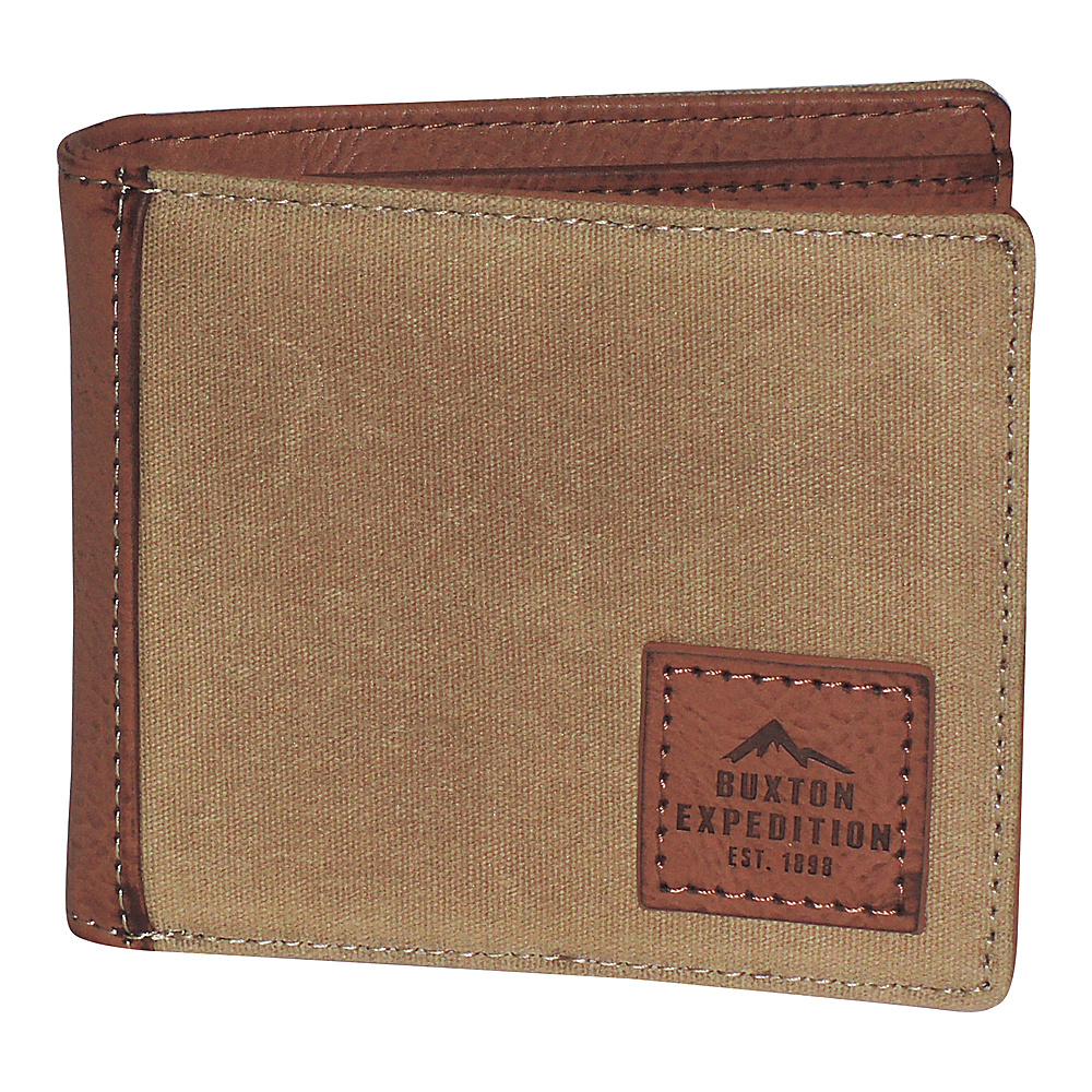 Buxton Expedition II Huntington Gear RFID Slimfold Tan - Buxton Mens Wallets - Work Bags & Briefcases, Men's Wallets