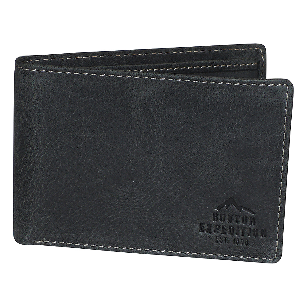 Buxton Expedition II RFID Front Pocket I.D. Slimfold Black - Buxton Mens Wallets - Work Bags & Briefcases, Men's Wallets