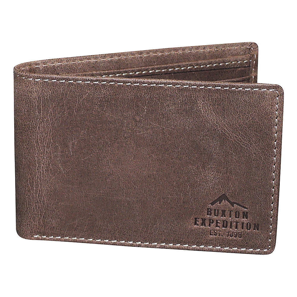 Buxton Expedition II RFID Front Pocket I.D. Slimfold Walnut - Buxton Mens Wallets - Work Bags & Briefcases, Men's Wallets