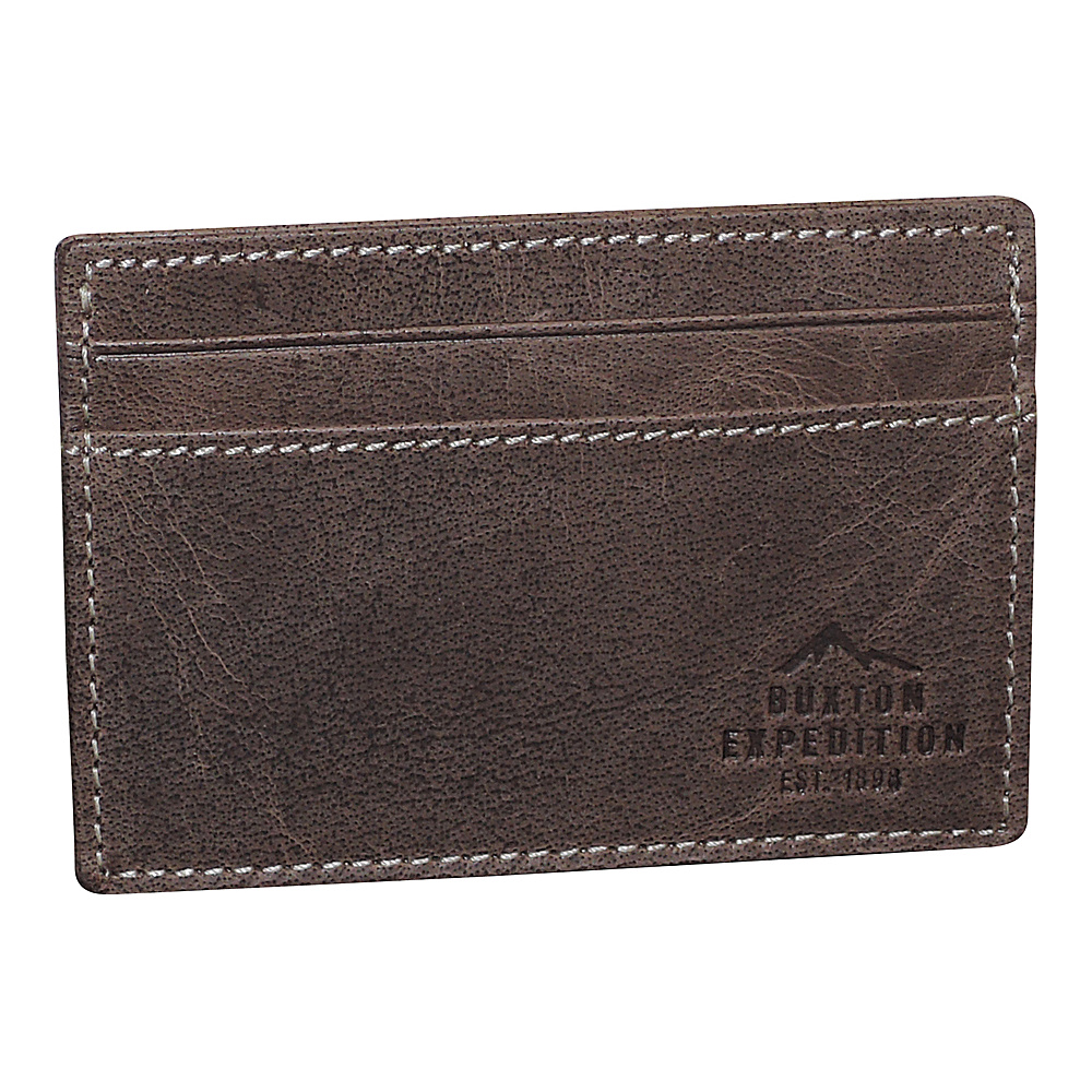 Buxton Expedition II RFID Front Pocket Get-Away Walnut - Buxton Mens Wallets - Work Bags & Briefcases, Men's Wallets