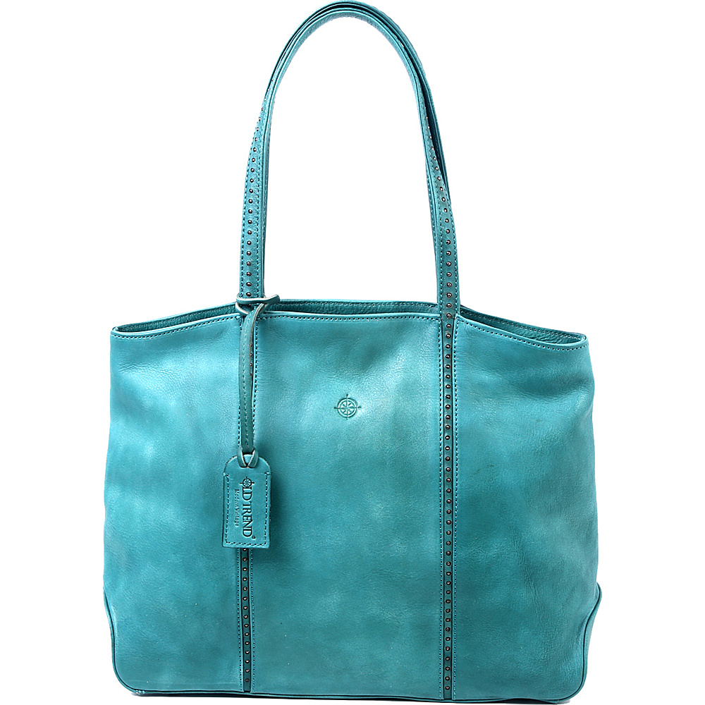 Old Trend Dancing Bamboo Tote Aqua Old Trend Leather Handbags