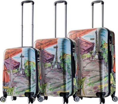 Mia Viaggi ITALY Eiffel Tower Hardside 3 Piece Spinner Set Paris - Mia Viaggi ITALY Luggage Sets