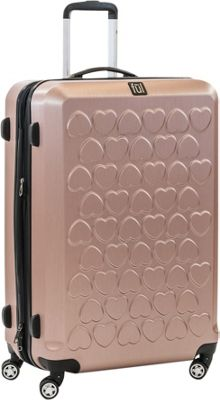 ful Hearts 25in Spinner Rolling Luggage Gold - ful Hardside Checked