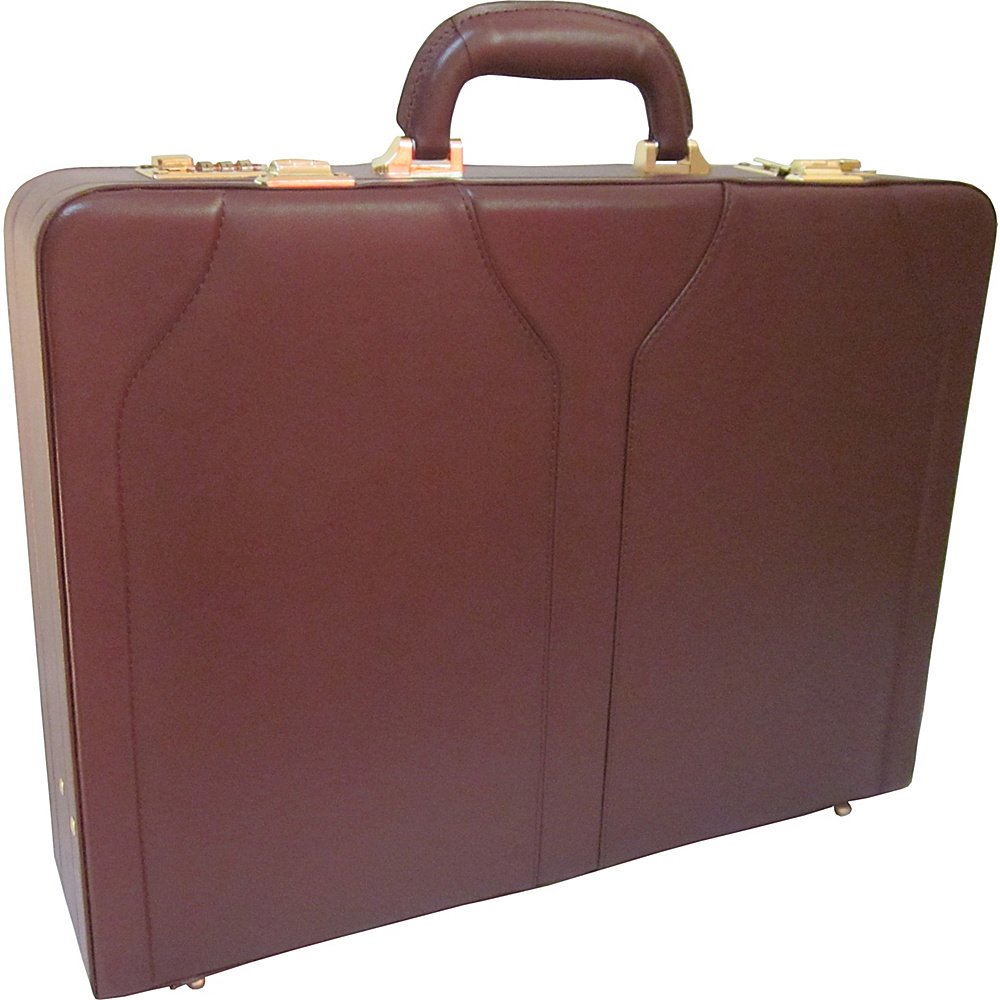 AmeriLeather Caden Executive Attache Case Brown - AmeriLeather Non-Wheeled Business Cases - Work Bags & Briefcases, Non-Wheeled Business Cases