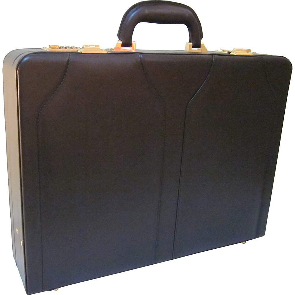 AmeriLeather Caden Executive Attache Case Black - AmeriLeather Non-Wheeled Business Cases - Work Bags & Briefcases, Non-Wheeled Business Cases