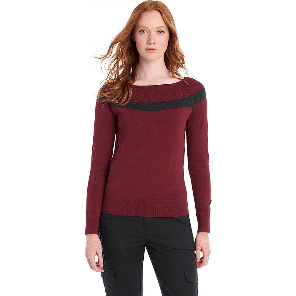 Lole Moss Sweater L - Rumba Red Heather - Lole Womens Apparel - Apparel & Footwear, Women's Apparel