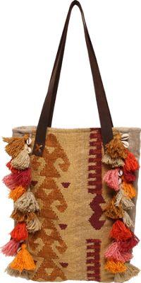 Ale by Alessandra Jaipur Tote Tan/Multi - Ale by Alessandra Fabric Handbags