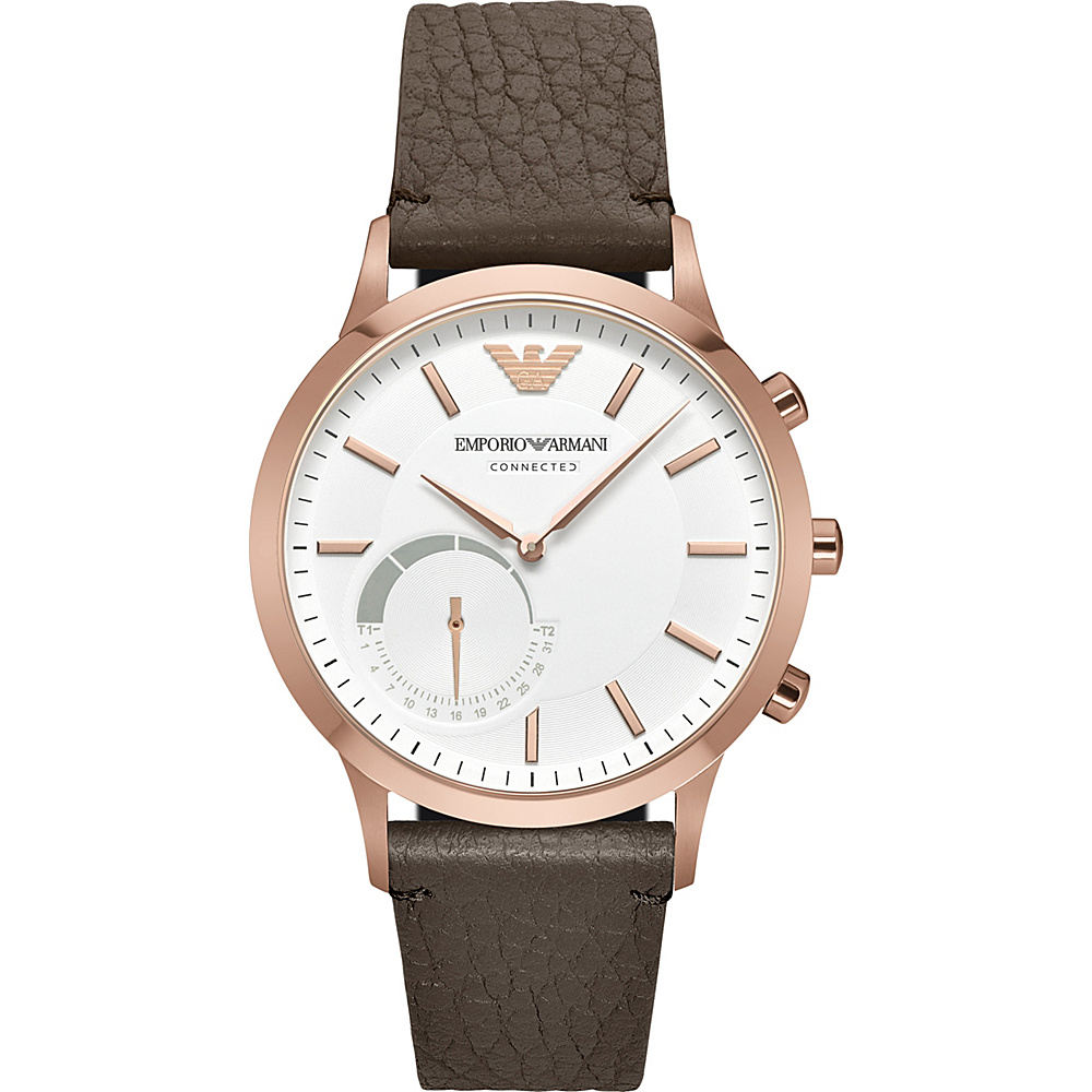 Emporio Armani Hybrid Smartwatch Brown Emporio Armani Wearable Technology