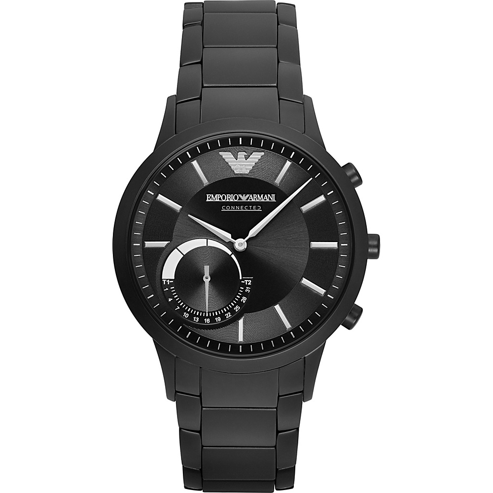 Emporio Armani Hybrid Smartwatch Black Black Emporio Armani Wearable Technology