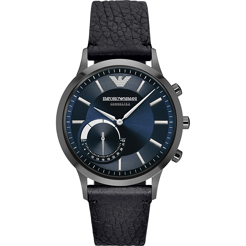 Emporio Armani Hybrid Smartwatch Black Blue Emporio Armani Wearable Technology