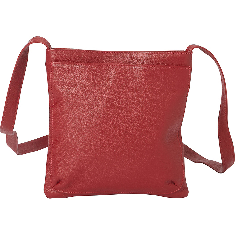 Piel Crossbody Mini Leather Bag Red - Piel Leather Handbags - Handbags, Leather Handbags
