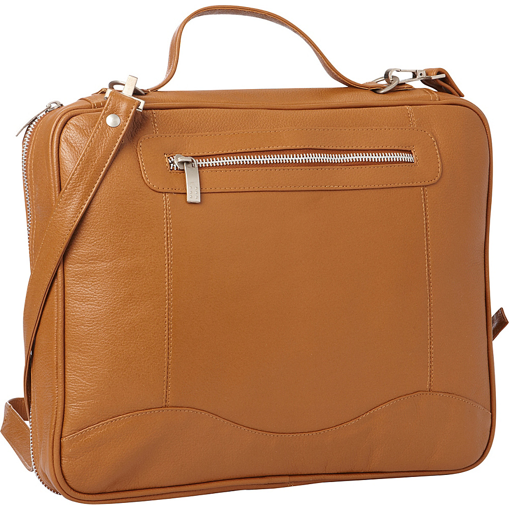 Piel Leather Laptop/Tablet Case Saddle - Piel Messenger Bags - Work Bags & Briefcases, Messenger Bags