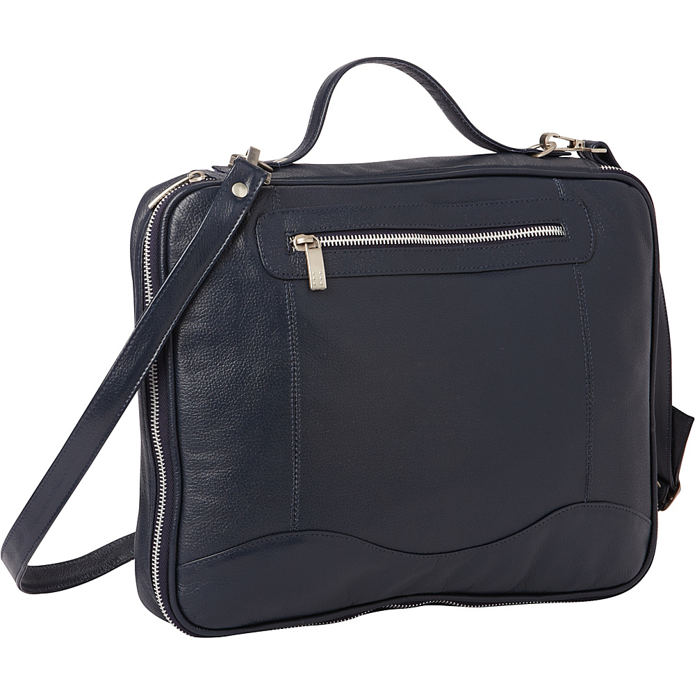 Piel Leather Laptop/Tablet Case Navy - Piel Messenger Bags - Work Bags & Briefcases, Messenger Bags