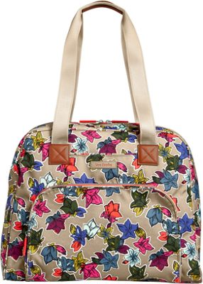 Vera Bradley Lighten Up Go Anywhere Carry-On Falling Flowers Neutral - Vera Bradley Luggage Totes and Satchels