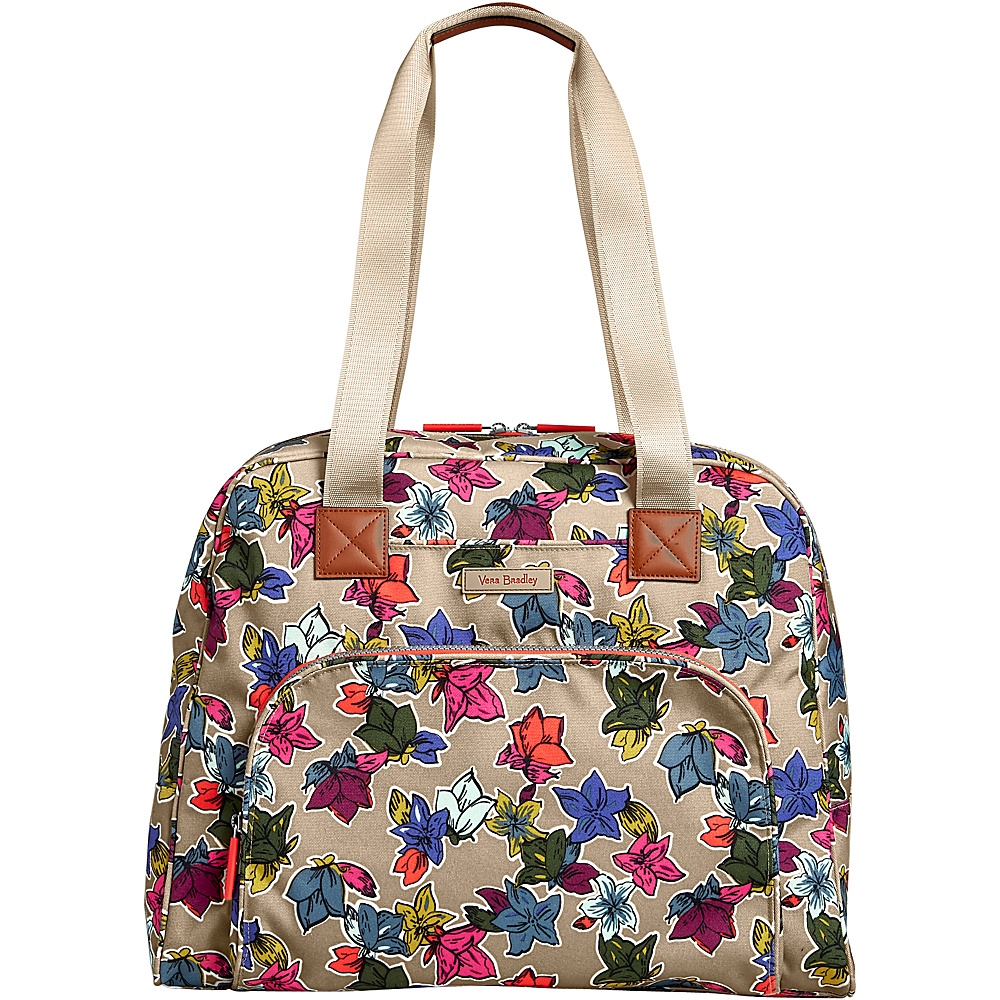 Vera Bradley Lighten Up Go Anywhere Carry-On Falling Flowers Neutral - Vera Bradley Luggage Totes and Satchels - Luggage, Luggage Totes and Satchels