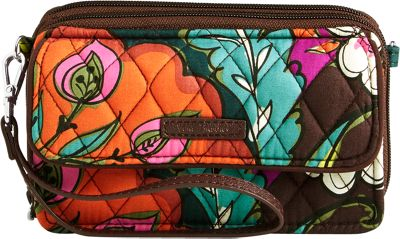 Vera Bradley RFID All in One Crossbody Autumn Leaves - Vera Bradley Fabric Handbags