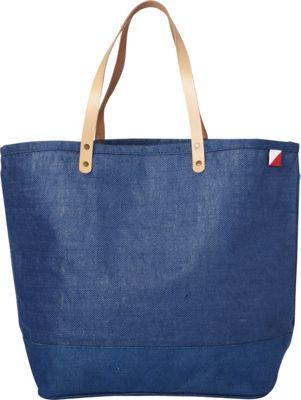 Shorebags Big Jute Bag Denim Blue - Shorebags Fabric Handbags