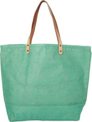 Shorebags Big Jute Bag Jade Green - Shorebags Fabric Handbags