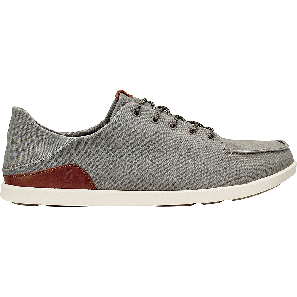 OluKai Mens Manoa Sneaker 11.5 - Fog/Mustard - OluKai Mens Footwear - Apparel & Footwear, Men's Footwear