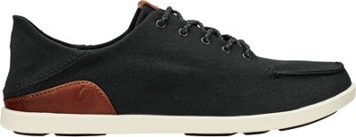 OluKai Mens Manoa Sneaker 12 - Black/Mustard - OluKai Men's Footwear