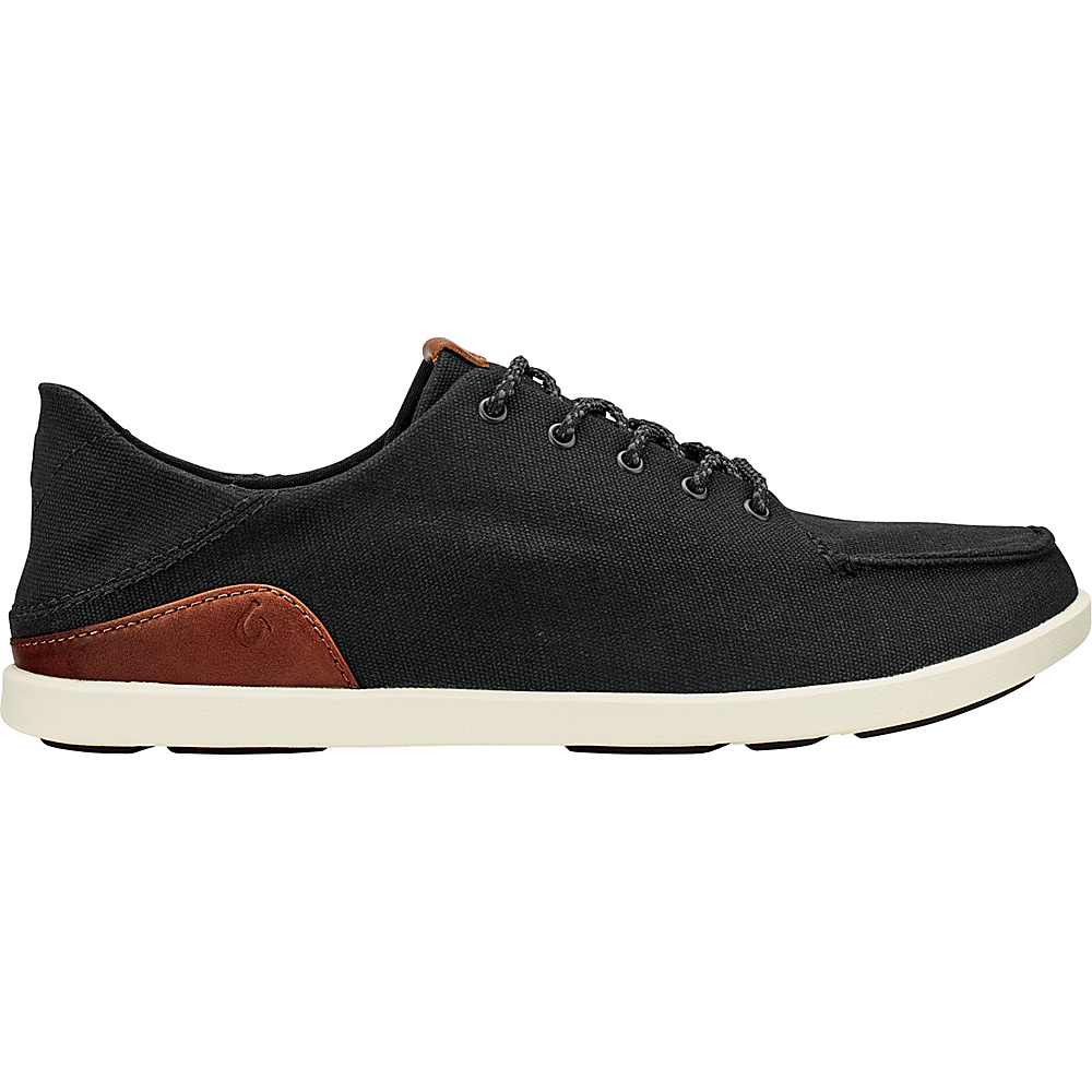OluKai Mens Manoa Sneaker 9.5 - Black/Mustard - OluKai Mens Footwear - Apparel & Footwear, Men's Footwear