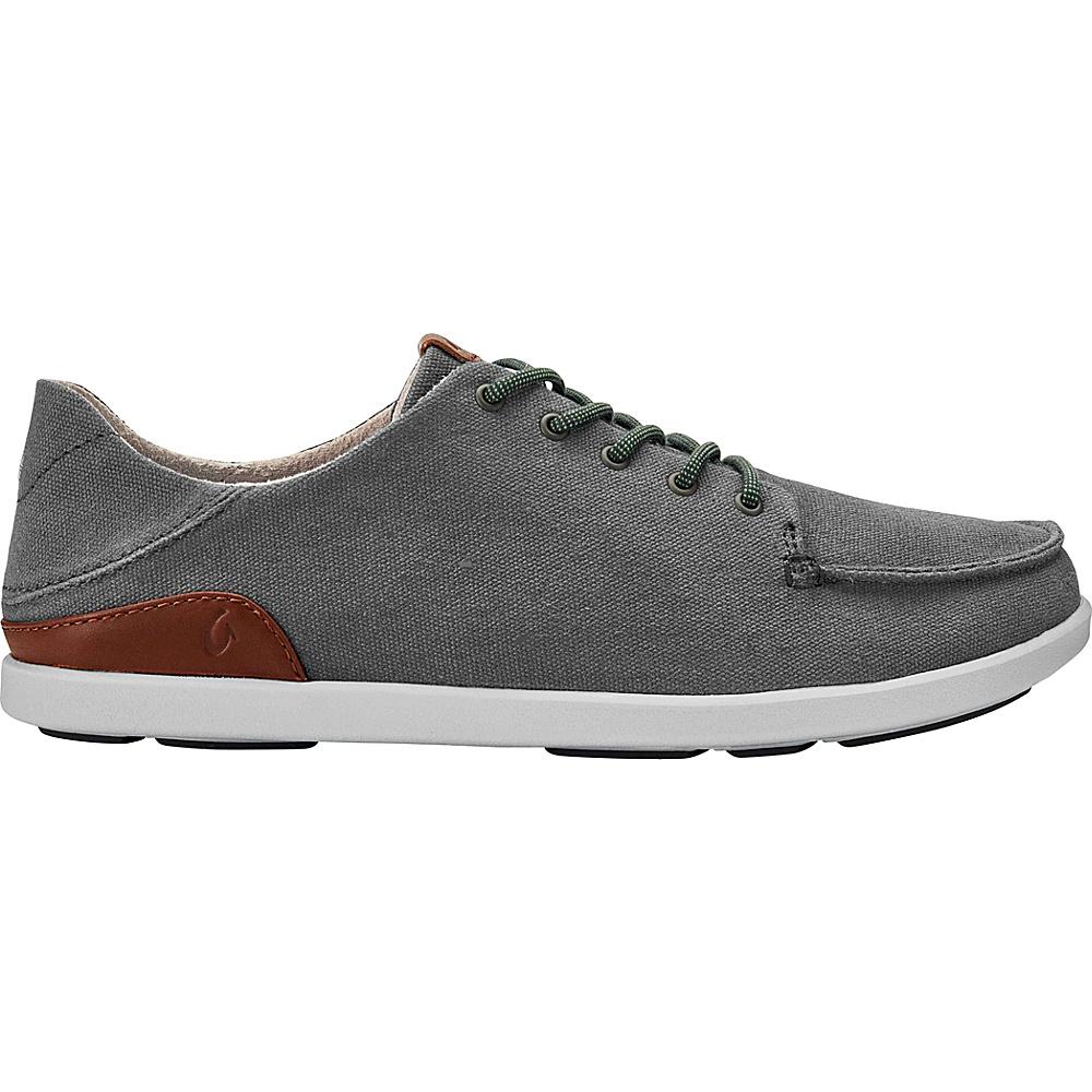 OluKai Mens Manoa Sneaker 11 - Charcoal/Toffee - OluKai Mens Footwear - Apparel & Footwear, Men's Footwear