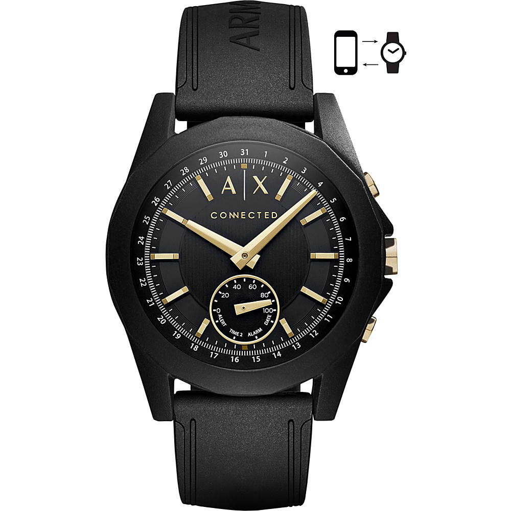 A/X Armani Exchange Active Smartwatch Black/Gold - A/X Armani Exchange Wearable Technology