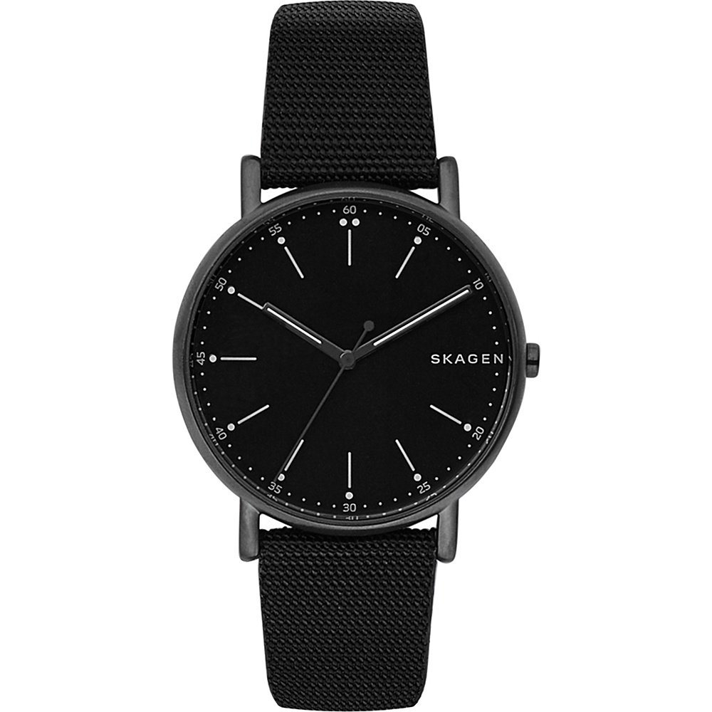 Skagen Signature Nylon Watch Black - Skagen Watches
