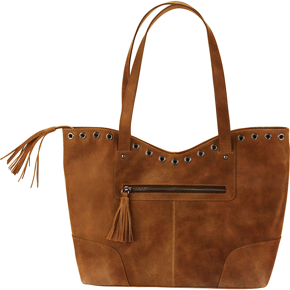 Hadaki Grommet Tote Distressed Sand - Hadaki Leather Handbags - Handbags, Leather Handbags