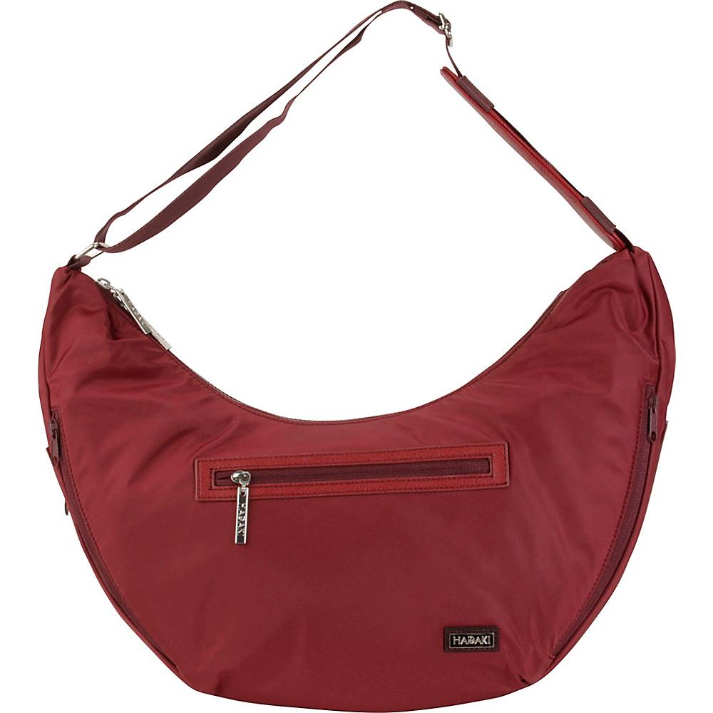 Hadaki City Hobo Wine - Hadaki Fabric Handbags - Handbags, Fabric Handbags