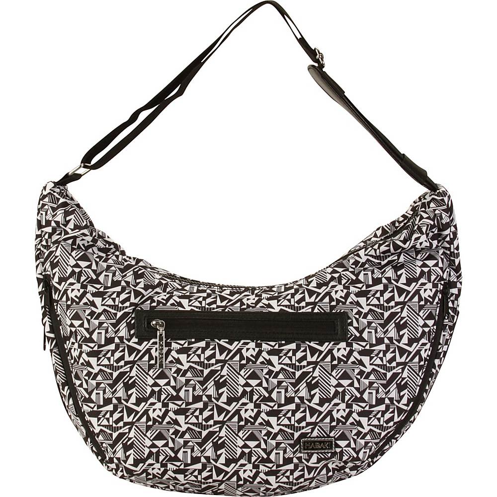 Hadaki City Hobo Black & White - Hadaki Fabric Handbags - Handbags, Fabric Handbags