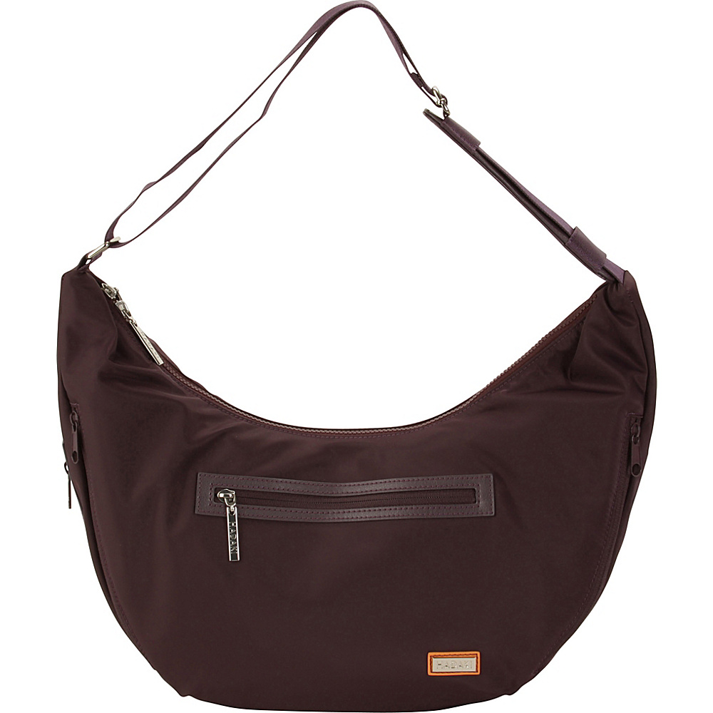 Hadaki City Hobo Plum Perfect Solid - Hadaki Fabric Handbags - Handbags, Fabric Handbags