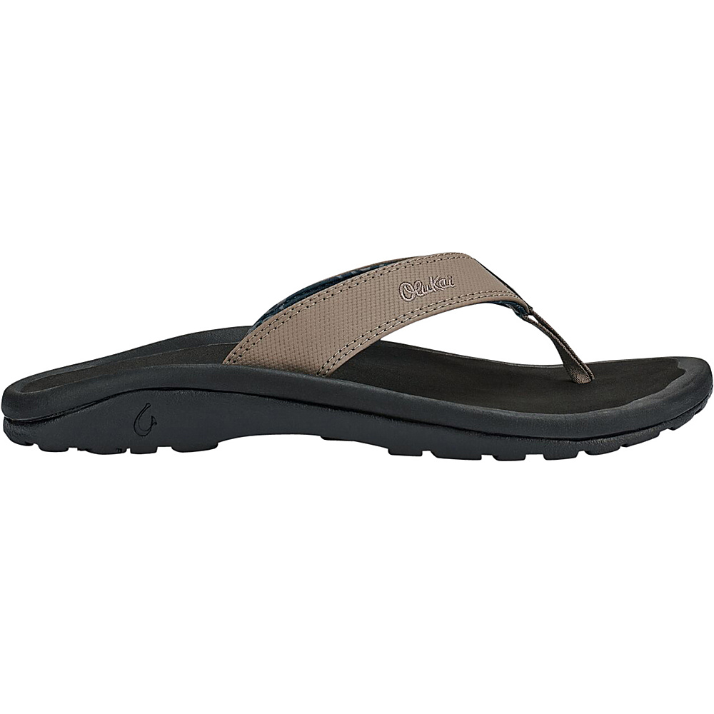 OluKai Mens Ohana Sandal 7 - Clay/Black - OluKai Mens Footwear - Apparel & Footwear, Men's Footwear