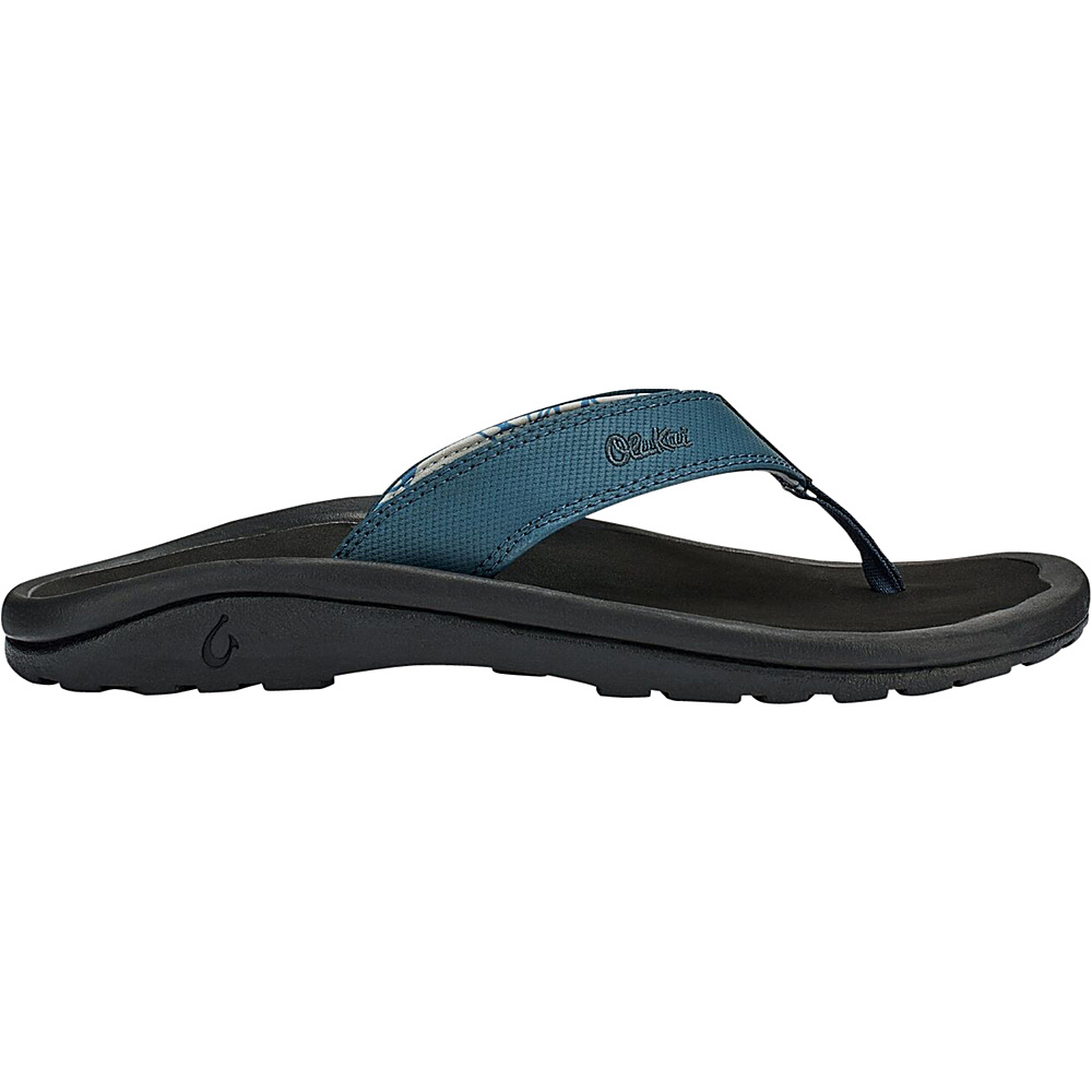 OluKai Mens Ohana Sandal 16 - Stormy Blue/Black - OluKai Mens Footwear - Apparel & Footwear, Men's Footwear