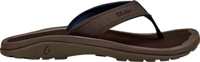 OluKai Mens Ohana Sandal 10 - Dark Wood/Dark Wood - OluKai Men's Footwear