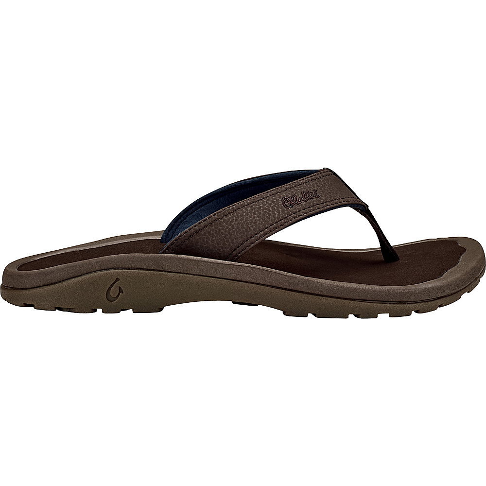 OluKai Mens Ohana Sandal 14 - Dark Wood/Dark Wood - OluKai Mens Footwear - Apparel & Footwear, Men's Footwear