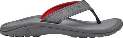 OluKai Mens Ohana Sandal 10 - Charcoal/Charcoal - OluKai Men's Footwear